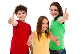 3 kids thumbs up