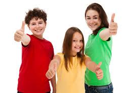 3 kids thumbs up