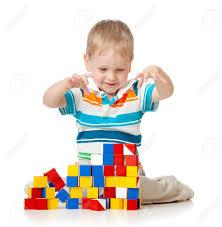 Boy with blocks 2