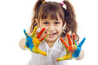 Girl with hands